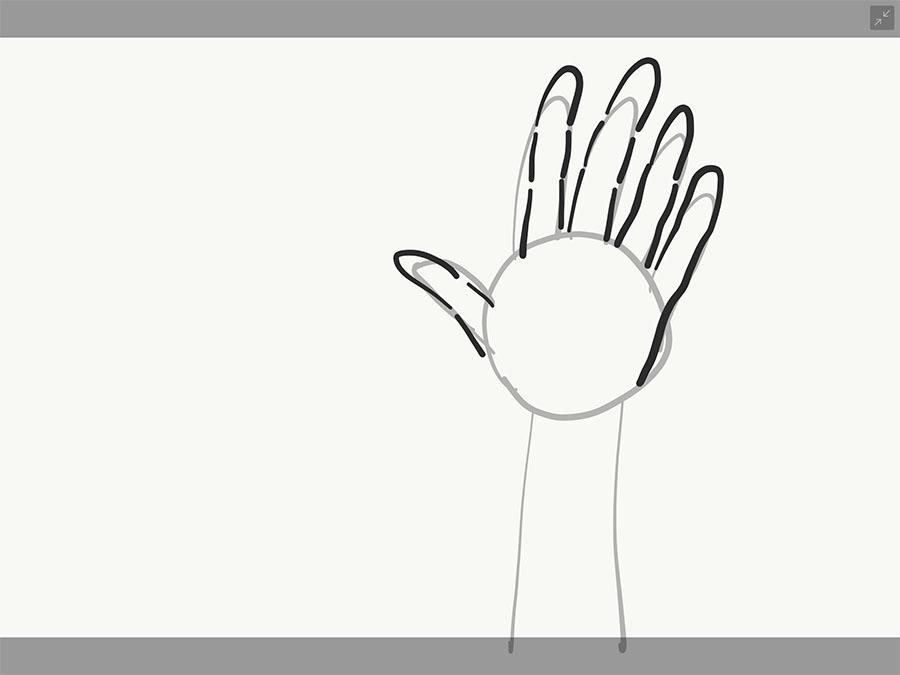 手の書き方2