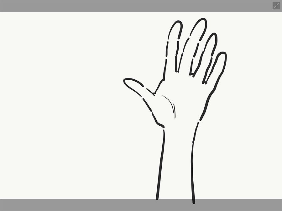 手の書き方3