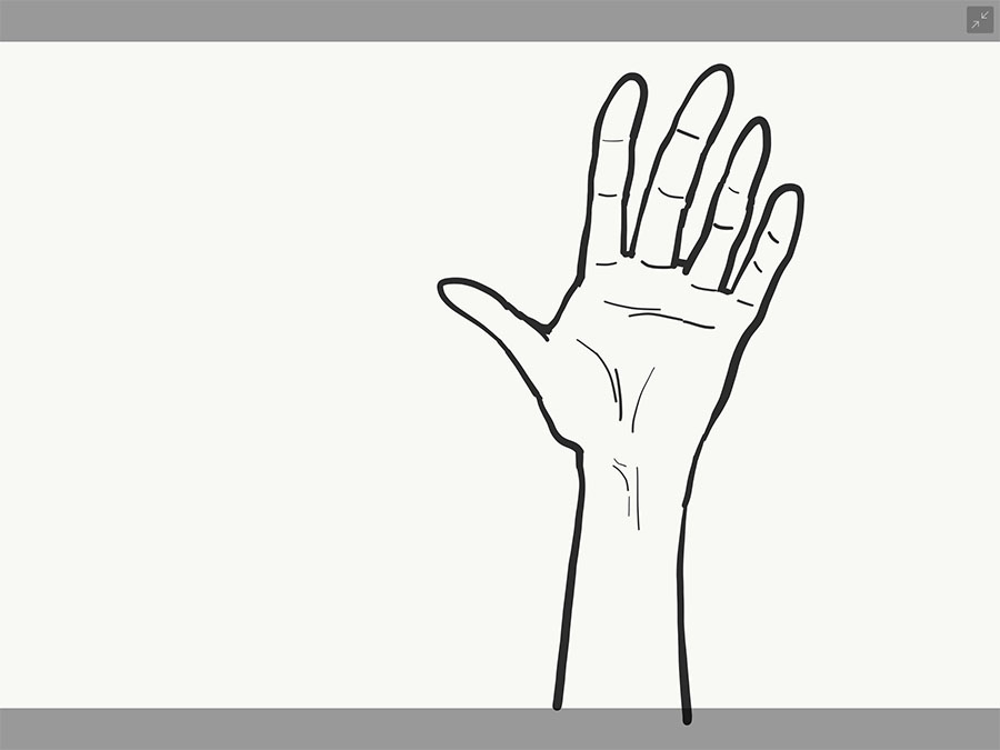 手の書き方4