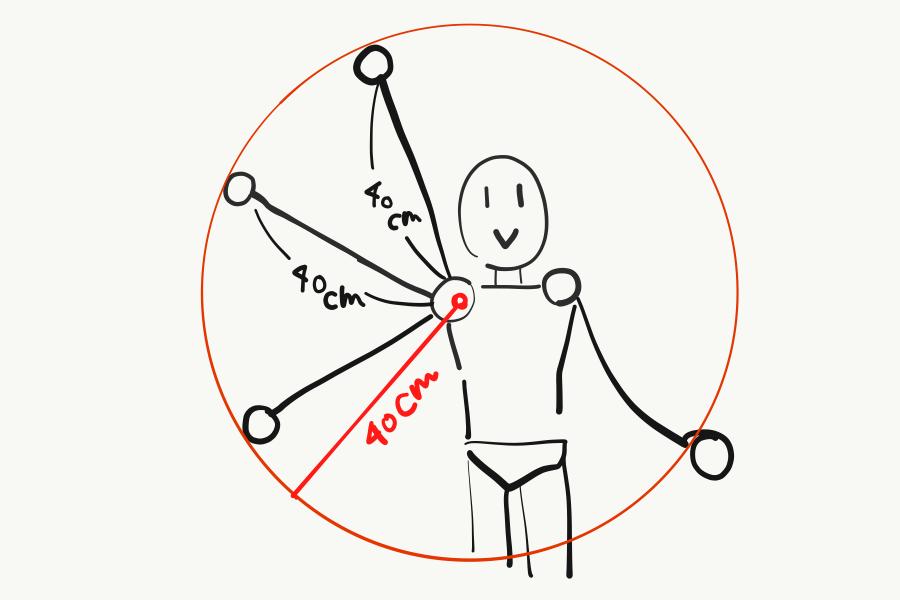 アニメ中割り腕の軌道