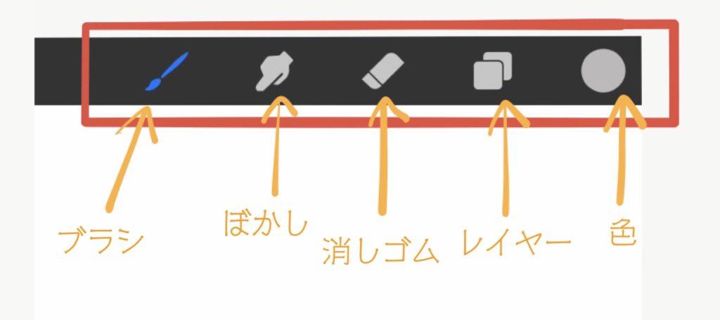 ProCreate使い方10-描画画面